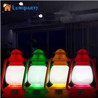 LumiParty Mini LED Night Lamp Decoration Colorful Vintage Lantern Lamp Portable Night Light