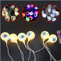 1.2m 10 LED Ghost Eyes String Light Lamp Party Bar Festival Halloween Decor Light Battery Charged