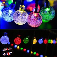 OOBEST Globe Outdoor Solar String Lights Fairy Christmas Bubble Crystal Ball String Light for Outdoor Xmas Tree Garden hot
