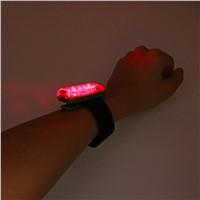 3/5 LED Luminous Mini Clip Jogging Night Safety Warning Bright Flash Light Clip on Strap Bike Tail Lights for Running Walking