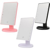 16 LEDs Lighted Make-up Mirror With USB charging Touch Screen Luminous 180 Rotating Mirror Adjustable Tabletop Lamp Mirrors
