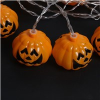 16-LED EU Plug Halloween Party Bar Household Decoration Pumpkin String Lamps Festival Christmas Tree Decoration Lamps