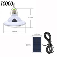 Rechargeable 22 LEDs Solar Bulb Lights Hanging Lamp with Remote Controller Outdoor Camping Emergency Lighting with Solar Panel