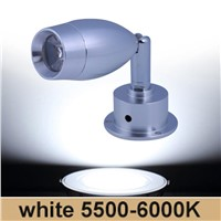 3W LED spot light Aluminum mini led downlight holder Surface Wall mounted showcase jewelry counter ceiling lamp 111~240V