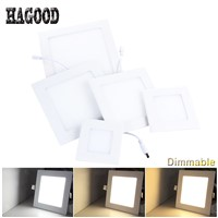 Dimmable LED Square Panel Light Recessed Ceiling Lamp Spotlight LED Panel Lantern 3W/4W/6W/9W/12W/15W/18W/24W