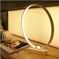 Aluminum Modern LED Table Lamps For Living Room Home Led Desk Lamp Bedroom Study Reading EU US Plug Acrylic Lampshade