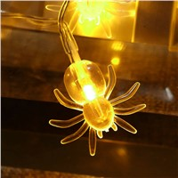 2 M 20 LED Spider String Lights For Halloween Party Decor Halloween String Light Glow Supplies Drop shipping