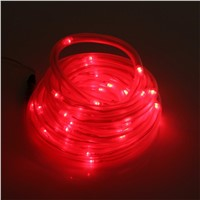 LumiParty Solar 10M 50 LEDs Rope Tube Led String Strip Fairy Light Outdoor Garden Xmas Party Decor Red
