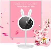 ICOCO Intelligent Touch Switch LED Light Rabbit Shaped Makeup Cosmetic Mirror Storage Table Lamp Built-in Battery Drop Shipping