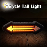 TSLEEN New Remote Control LED Bicycle USB LED Lamp MTB Bike Front Rear Light Outdoor Cycling Warning Lamp Night Safety Taillight