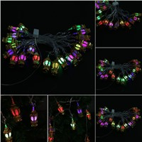 EU Plug 110v 20LED Lantern Shape LED String Lights Strip Light Lamp For Christmas Halloween Festival Decoration