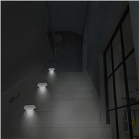 4LED/6LED Night Lighting Waterproof Light-sensor LED Solar Lamp Outdoor Garden Stair Yard Solar Wall Lamp