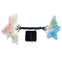 12 Led Solar Powered Butterfly Fiber Optic Fairy String Waterproof Christmas Outdoor Garden Holiday Lights Festival Decor T0.2
