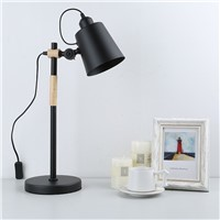 Wholesale Modern Desk Work Lamp Study Desk Lamp Children Table Lamp Wooden Art Schemerlamp Reading Glass kitap abajour bureau