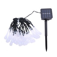 30 Led Strip Solar Water Drop Outdoor Fairy Lights Lamp Garden String Lighting Halloween Christmas Decoration Led