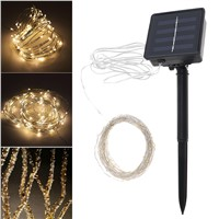 Sale 10 Meter 100 LED Solar Light Outdoor Garden Christmas Flashing Lights for Holiday Decoration