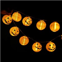 10 LED 1.2M Halloween Decor Pumpkins/Ghost/Spider/Skull LED String Lights Lanterns Lamp for DIY Home Bar Outdoor Party Supplies