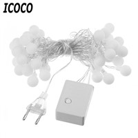 ICOCO 40 LED Small White Ball Lights String Battery Powered Flash Christmas Fairy String Light 5M For Party Wedding Garden