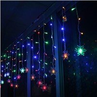 3.5m Waterproof 96LED Stripe Snowflake Pendant Fairy Light for Xmas Garland Party Wedding New Year Decoration Outdoor Lighting