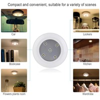 Jiaderui LED Puck Night Lights Kitchen Wireless Remote Control AA Battery Powerd Lamp for Cabinets Closets Children Nightlight
