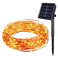 Energy Saving 12m 40ft 100leds / 22M200leds Solar Rope Tube LED Light String STRIP Waterproof Outdoor Party