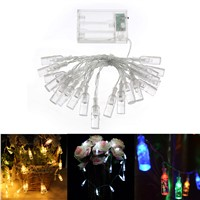 2.2m 20-LED Copper Wire String Light  Bottle for Glass Craft Bottle Valentines Wedding Decoration string lights