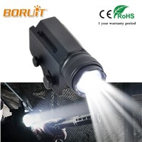 BORUIT 2000LM XML L2 LED Gun Flash Light Tactical Torch Flashlight with Release 20mm Mount for Pistol Airsoft 1 Mode White Light