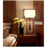 Chinese ancient classical study table lamps living room bedroom bedside lamp lights hotel living room Club desk lamps ZA921539