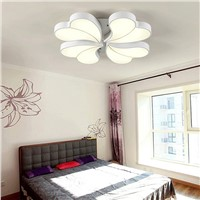 Modern Heart Shape Petals Acryl LED Ceiling Lights Sweet Romance Stepless Dimming Ceiling Lamp With Remote Control Flower lamps