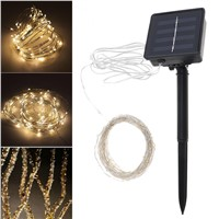 New 10 Meter 100 LED Solar Light Outdoor Garden Christmas Flashing Lights for Holiday Decoration