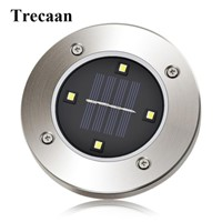 Trecaan 4 Leds Solar Underground Light Outdoor Garden Solar Buried Floor Lamps for Garden Yard Square Landscape Path