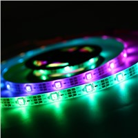 WS68 12 RGB 5050 SMD Waterproof 5V LED Black Strip Light With Battery Box P15