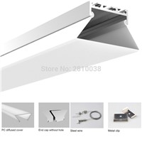50 X1 M Sets/Lot Factory price led profile light and funnelform led ceiling channel for ceiling or wall lamp