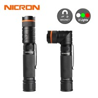 NICRON Magnet 90 Degree Rechargeable LED Flashlight Ultra Bright High Brightness Waterproof 3 Modes 300LM Zoomable LED Torch B70