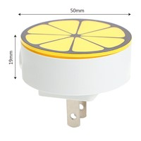ITimo Round Lemon Corridor Socket LED Night Lights Plug-in Room Wall Lamp Home Decor US Plug Mini Sensor Control Bedroom