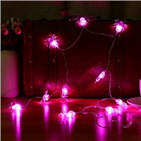 2AA/3AA Battery Operated LED Fairy String Lights 10LED/20LED Purple Spider Lights Halloween Decoration Light