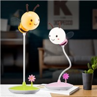 The new cartoon bee LED USB charging touch lamp electrodeless dimming desktop bedside Nightlight creative lovely lamp