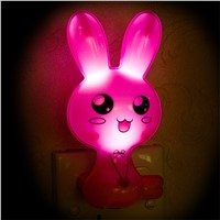 Cute Rabbit light Sensor LED Night Light Bedroom Lamps Kids Baby Lights Animal Lighting