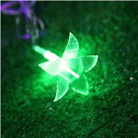 33FT/38LED String Light Garden LED String Light Colorful Flower Lily LED String Fairy Light Christmas Wedding Patio Decoration