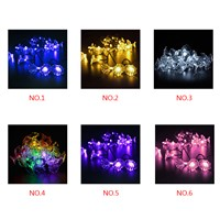 50LEDs Morning Glory Solar Power String Lights for Christmas trees decoration