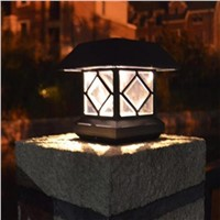 Waterproof Solar Powered LED Wall Lamp Outdoor Garden Pillars Fences  LED Solar Light Lawn Landscape Lamp