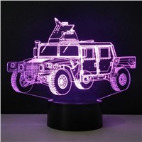 Military Truck Shape 3D LED Table Lamp Methacrylate plate Craft Night Light Innovative Lumine Deco Nightlight Colored Kids Gift