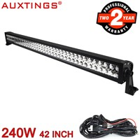 Auxtings waterproof off road 240w waterproof CE RoHS 40 inch led light bar work light 12v 24v