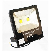 lagpousi 100W LED yellow(580 nm~595nm) Flood Light Outdoor, IP66 Waterproof Lighting LED Spotlight, 9000LM, Wall light