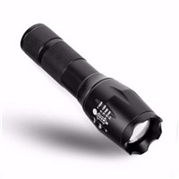 1 PC E17 XM-L T6 3800LM Aluminum Waterproof Zoomable LED Flashlight Torch light for 18650 Rechargeable Battery or AAA
