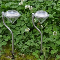 4pcs Outdoor Solar LED Light Garden Yard Path Lawn Solar Lamps Outdoor Waterproof Diamond Lights for Outdoor Garden