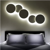 DIY Solar eclipse Aluminum LED Wall Lamps round wall lights for living room bedroom decoration Lighting