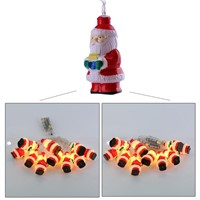 10LED String Lights Santa Claus Shape Waterproof Battery LED Fairy Lights Christmas Decorative Lighting Indoor Outdoor Party