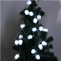 2.5m 20LED Battery Powered Pine Cone Fairy String Lights for Xmas Garland Party Wedding Home Christmas Tree Decoration Light