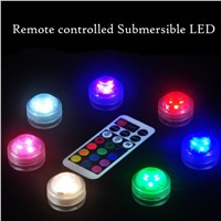 10pcs/set LED Aquarium Diving Light with Remote Control Waterproof Lighting Electronic Candle Lights Fish Tank Lamp 5 Colors Hot